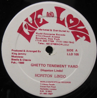 HOPETON LINDO - Ghetto Tenement Yard / Untitled Version