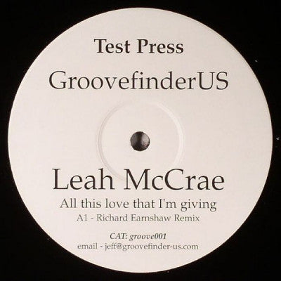 LEAH MCCRAE - All That Love That I'm Giving