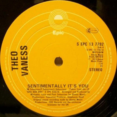 THEO VANESS - Sentimentally It's You