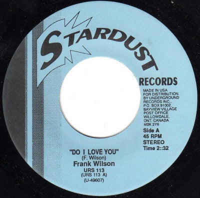 FRANK WILSON / CHRIS CLARK - Do I Love You / Do I Love You