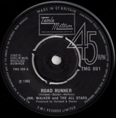 JNR. WALKER AND THE ALL STARS - Road Runner / Shotgun