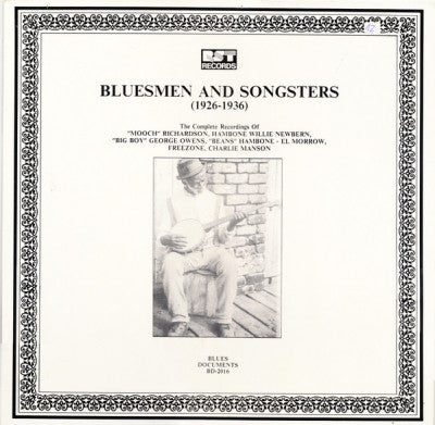 VARIOUS ARTISTS - Bluesmen And Songsters (1926-1936)