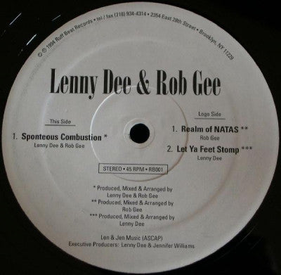 LENNY DEE & ROB GEE - Spontaneous Combustion