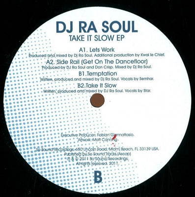 DJ RA SOUL - Take It Slow EP