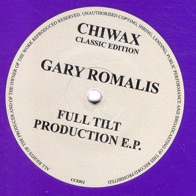 GARY ROMALIS - Full Tilt Production E.P.