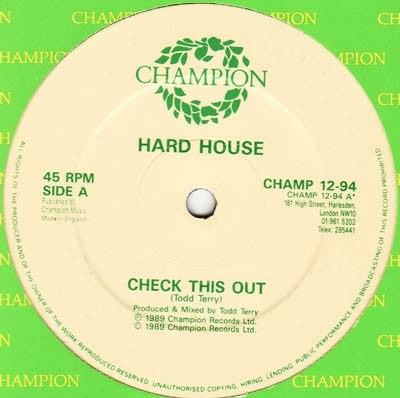 HARD HOUSE - Check This Out
