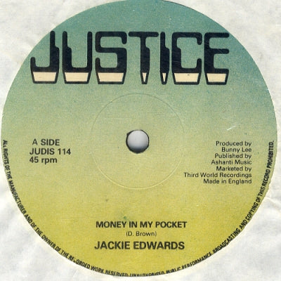 JACKIE EDWARDS - Money In My Pocket / Sad News