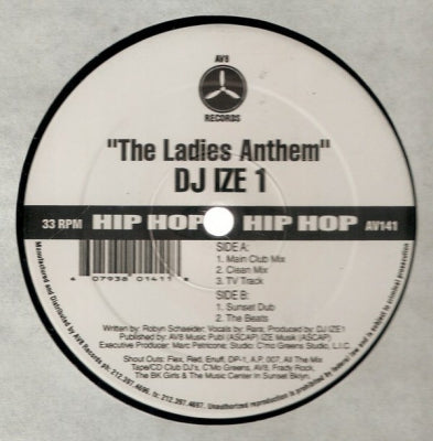 DJ IZE 1 - The Ladies Anthem