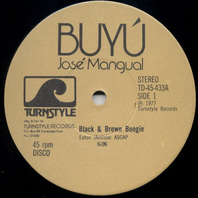 JOSE MANGUAL - Black & Brown Boogie / Mai Kinshasa