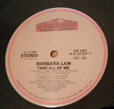 BARBARA LAW - Take All Of Me / You Can Read My Mind