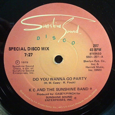 K.C. AND THE SUNSHINE BAND - Do You Wanna Go Party
