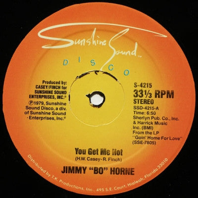 "JIMMY ""BO"" HORNE  - You Get Me Hot"