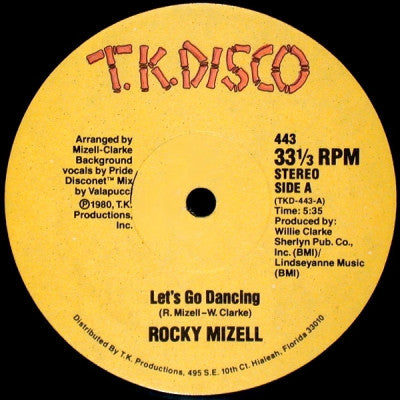 ROCKY MIZELL ‎ - Let's Go Dancing / I Don't Care What You Say (I'm Gonna Love You Tonight)