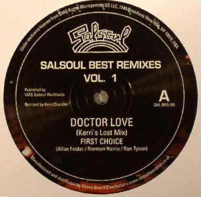 FIRST CHOICE / DOUBLE EXPOSURE - Salsoul Best Remixes Vol. 1 Doctor Love / Everyman