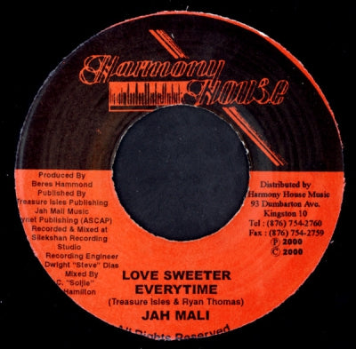 JAH MALI - Love Sweeter Everytime / Untitled