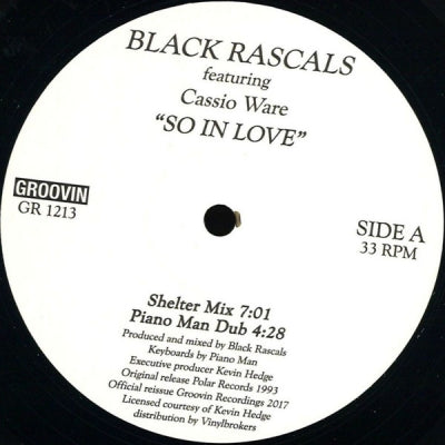 BLACK RASCALS FEATURING CASSIO WARE - So In Love