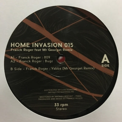 FRANCK ROGER FEAT MR GEORGET - Home Invasion 015
