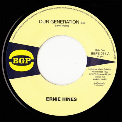 ERNIE HINES / THE BLACKBYRDS - Our Generation / Rock Creek Park