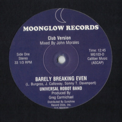 THE UNIVERSAL ROBOT BAND - Barely Breaking Even