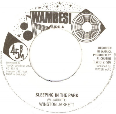 WINSTON JARRETT - Sleeping In The Park / Version