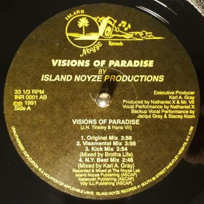 ISLAND NOYZE PRODUCTIONS - Visions Of Paradise