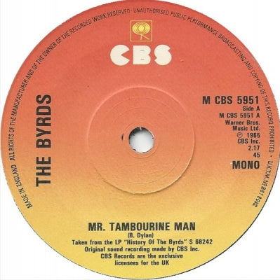THE BYRDS Mr  Tambourine Man / Turn! Turn! Turn! (To Everything There Is A  Season) 7