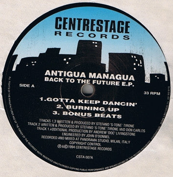 ANTIGUA MANAGUA - Back To The Future E.P.