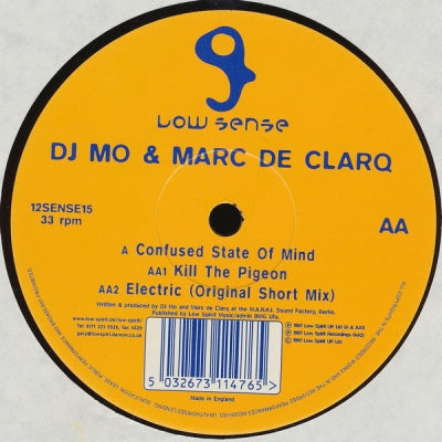 DJ MO VS. MARC DE CLARQ - Confused State Of Mind