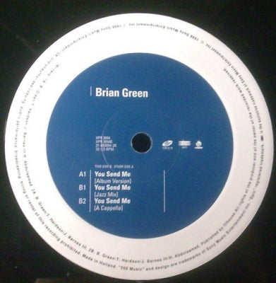 BRIAN GREEN - You Send Me