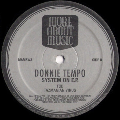 DONNIE TEMPO - System On E.P.