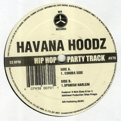 K-NOTE PRESENTS HAVANA HOODZ - Cohiba Side / Spanish Harlem