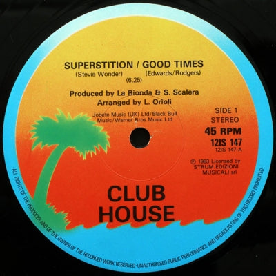 CLUB HOUSE - Superstition / Good Times