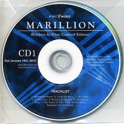 MARILLION - Holidays In Eden Live