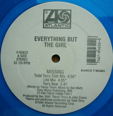 EVERYTHING BUT THE GIRL - Missing (The Bootleg Mixes!)