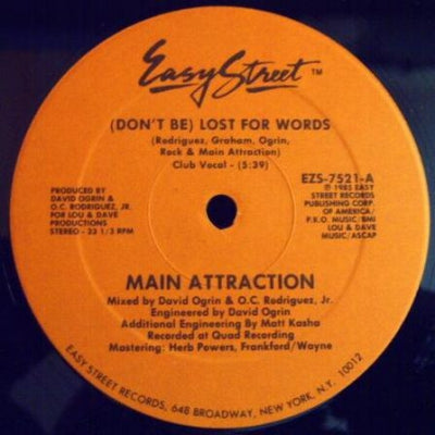 MAIN ATTRACTION - (Don't Be) Lost For Words