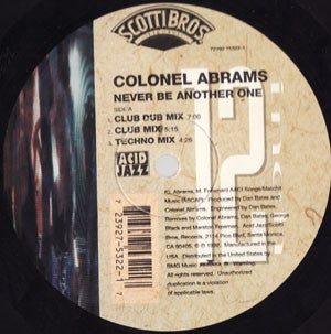 COLONEL ABRAMS - Never Be Another One