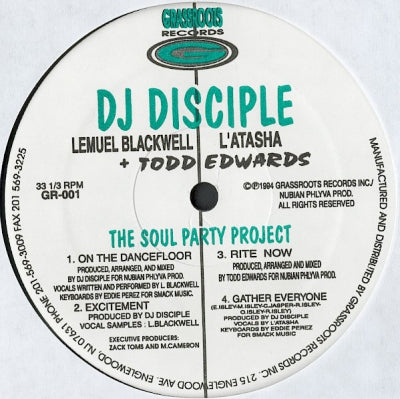 DJ DISCIPLE - The Soul Party Project