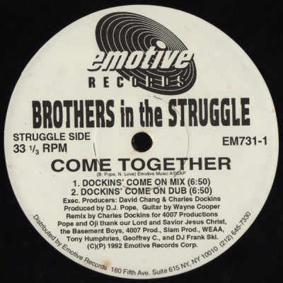 BROTHERS IN THE STRUGGLE - Come Together