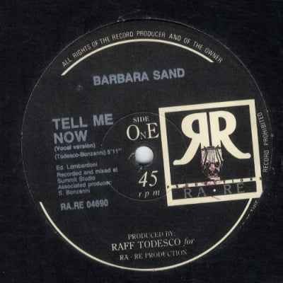 BARBARA SAND - Tell Me Now