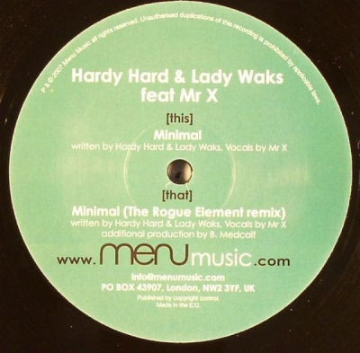 HARDY HARD & LADY WAKS FEAT. MR X - Minimal