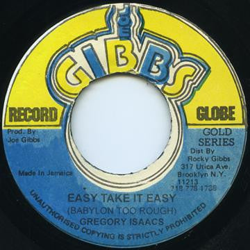 GREGORY ISAACS - Easy Take It Easy (Babylon Too Rough)