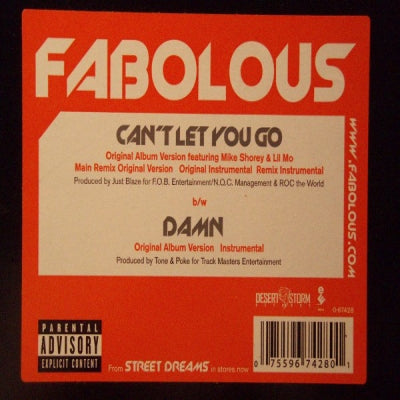 FABOLOUS - Can't Let You Go / Damn