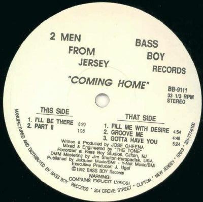 2 MEN FROM JERSEY - Coming Home