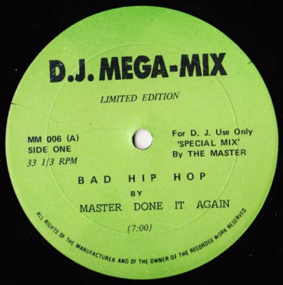 MASTER DONE IT AGAIN - Bad Hip Hop
