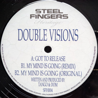 DOUBLE VISIONS (TANGO & DOM) - Got To Release / My Mind Is Going (Original / Remix)