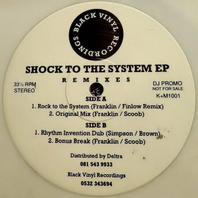SHOCK TO THE SYSTEM - Shock To The System EP Remixes