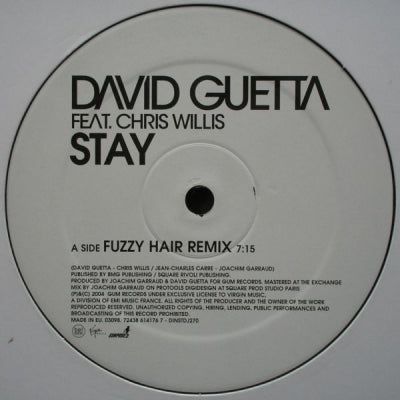 DAVID GUETTA FEAT. CHRIS WILLIS - Stay