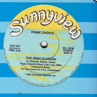 PRIME CHOICE - The Beat Is Fresh