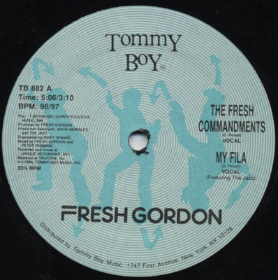 FRESH GORDON - The Fesh Commandments / My Fila