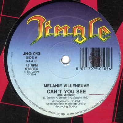 MELANIE VILLENVUE - Can't See You